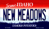 New Meadows Idaho State License Plate Wholesale Magnet