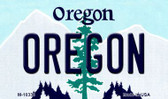 Oregon State License Plate Wholesale Magnet M-10338