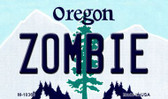 Zombie Oregon State License Plate Wholesale Magnet