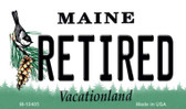 Retired Maine State License Plate Wholesale Magnet