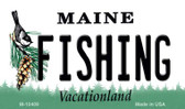Fishing Maine State License Plate Wholesale Magnet