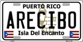 Arecibo Puerto Rico Wholesale Metal Novelty License Plate LP-2816