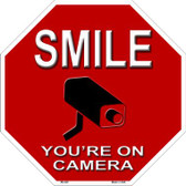 Smile You're On Camera Metal Novelty Stop Sign Wholesale