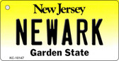 Newark New Jersey State License Plate Wholesale Key Chain