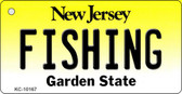 Fishing New Jersey State License Plate Wholesale Key Chain