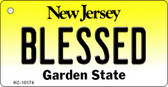 Blessed New Jersey State License Plate Wholesale Key Chain