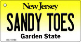 Sandy Toes New Jersey State License Plate Wholesale Key Chain