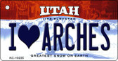 I Love Arches Utah State License Plate Wholesale Key Chain