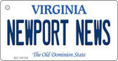 Newport News Virginia State License Plate Wholesale Key Chain