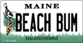 Beach Bum Maine State License Plate Wholesale Key Chain