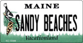 Sandy Beaches Maine State License Plate Wholesale Key Chain