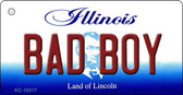 Bad Boy Illinois State License Plate Wholesale Key Chain