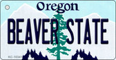 Beaver State Oregon State License Plate Wholesale Key Chain