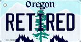 Retired Oregon State License Plate Wholesale Key Chain