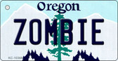 Zombie Oregon State License Plate Wholesale Key Chain