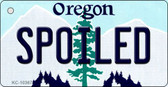 Spoiled Oregon State License Plate Wholesale Key Chain