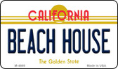 Beach House California State License Plate Wholesale Magnet