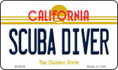 Scuba Diver California State License Plate Wholesale Magnet