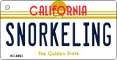 Snorkeling California State License Plate Wholesale Key Chain