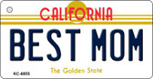 Best Mom California State License Plate Wholesale Key Chain