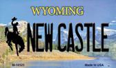 New Castle Wyoming State License Plate Wholesale Magnet