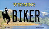 Biker Wyoming State License Plate Wholesale Magnet