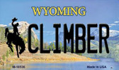 Climber Wyoming State License Plate Wholesale Magnet M-10536