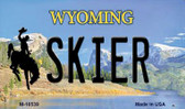 Skier Wyoming State License Plate Wholesale Magnet