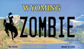 Zombie Wyoming State License Plate Wholesale Magnet