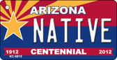 Native Arizona Centennial State License Plate Wholesale Key Chain