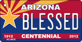 Blessed Arizona Centennial State License Plate Wholesale Key Chain