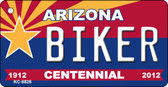 Biker Arizona Centennial State License Plate Wholesale Key Chain