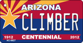 Climber Arizona Centennial State License Plate Wholesale Key Chain