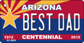 Best Dad Arizona Centennial State License Plate Wholesale Key Chain