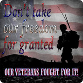 Don't Take Freedom For Granted Wholesale Novelty Square Sign