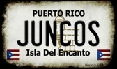 Juncos Puerto Rico State License Plate Wholesale Magnet