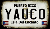 Yauco Puerto Rico State License Plate Wholesale Magnet M-2887
