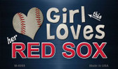 This Girl Loves Her Red Sox Wholesale Magnet M-8068