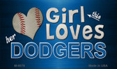 This Girl Loves Her Dodgers Wholesale Magnet M-8078