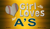 This Girl Loves Her A's Wholesale Magnet M-8083