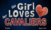 This Girl Loves Her Cavaliers Wholesale Magnet M-8420