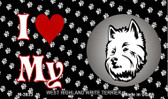 I Love My West Highland White Terrier Wholesale Magnet M-3933