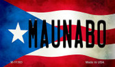Maunabo Puerto Rico State Flag Wholesale Magnet M-11363