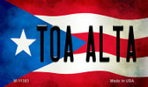 Toa Alta Puerto Rico State Flag Wholesale Magnet M-11383