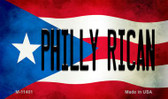 Philly Rican Puerto Rico State Flag Wholesale Magnet M-11401