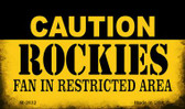 Caution Rockies Fan Area Wholesale Magnet M-2632