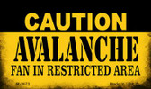 Caution Avalanche Fan Area Wholesale Magnet M-2672