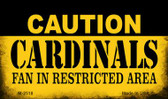 Caution Cardinals Fan Area Wholesale Magnet M-2518