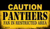Caution Panthers Fan Area Wholesale Magnet M-2526