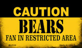 Caution Bears Fan Area Wholesale Magnet M-2530